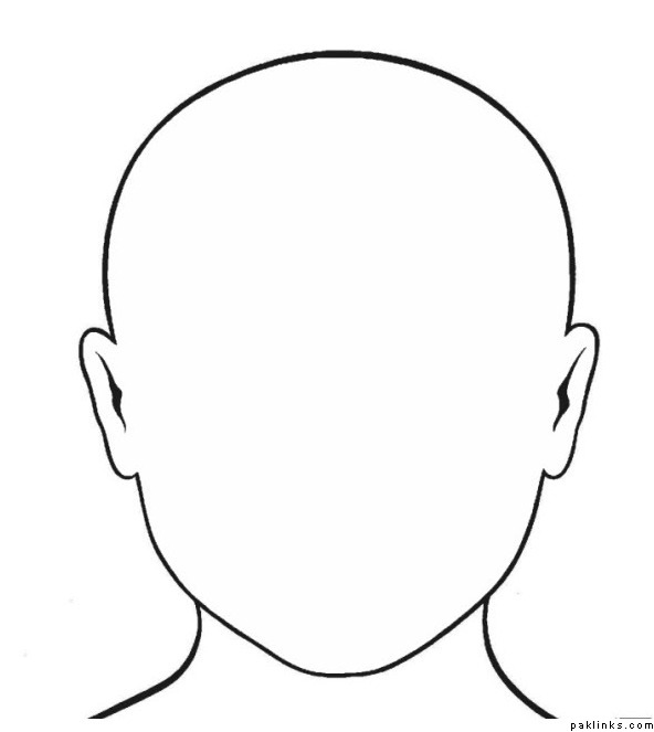 cartoon face diagram