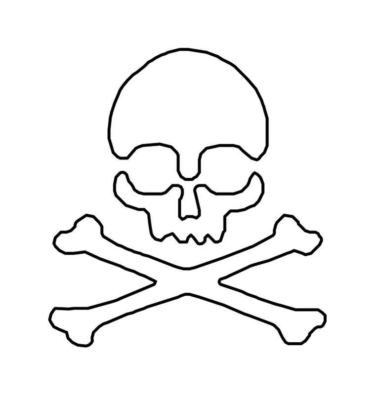 Free Skull And Crossbones Stencil, Download Free Clip Art, Free Clip