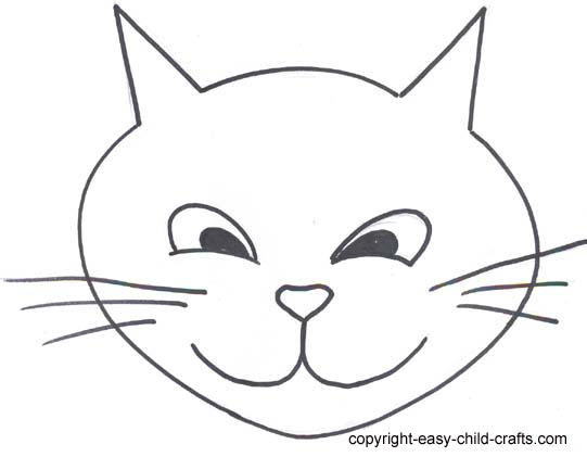 Free Cat Face Template, Download Free Clip Art, Free Clip Art on