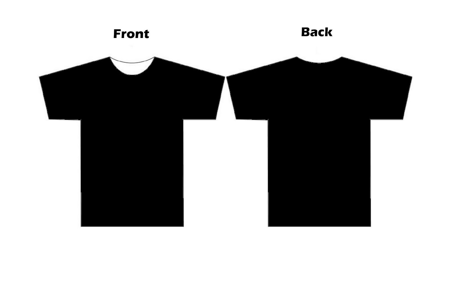Black t shirt design template free download t shirt templates clipart library