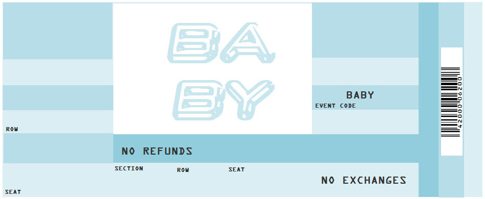 Blank plane ticket template - Clip Art Library