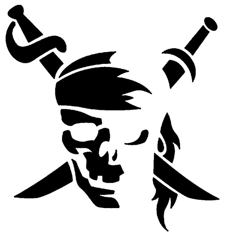 pirate pumpkin stencil printable  pirate jack o lantern