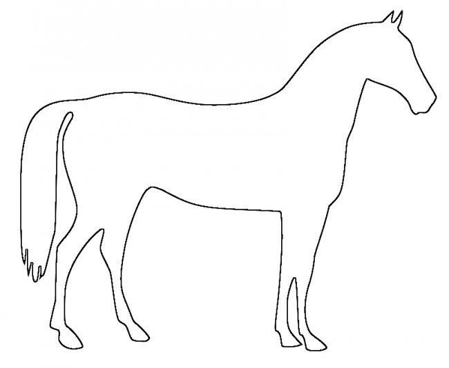 Horse head pattern Use the printable outline for crafts, creating