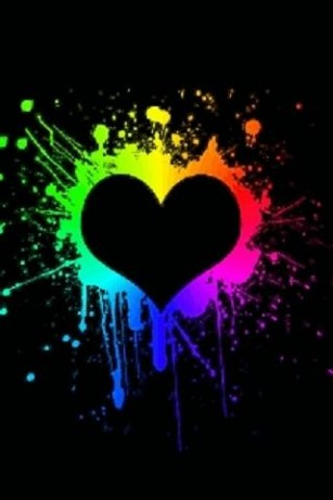 Cute Designs Full Page Wallpapers Neon Heart Splash Live Wallpap For Android