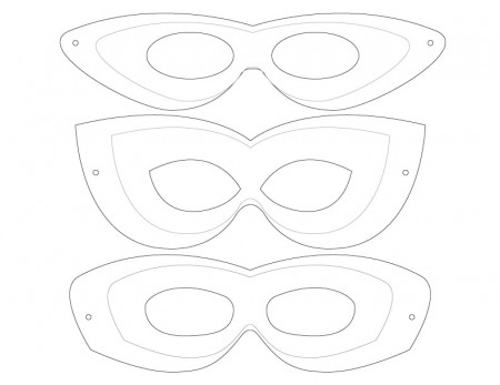 Free Printable Mask Template - Clip Art Library