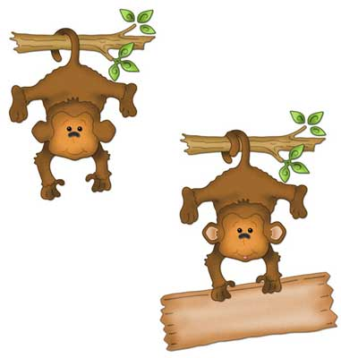 Free Hanging Monkey Template, Download Free Clip Art, Free Clip Art