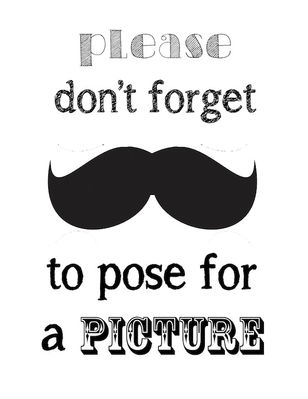 Printable Mustache Template - wikiHow - Clip Art Library