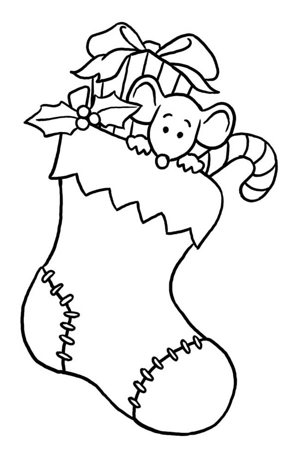 Free Picture Of Christmas Stocking, Download Free Clip Art, Free - best of santa coloring pages to print free