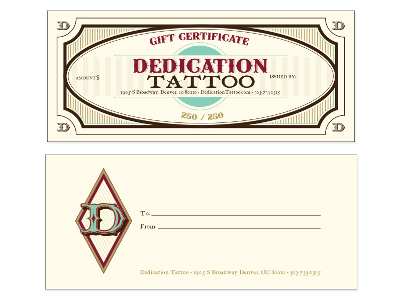 Tattoo Gift Certificate Template Free Download Clip Art Free - gift certificate free templates