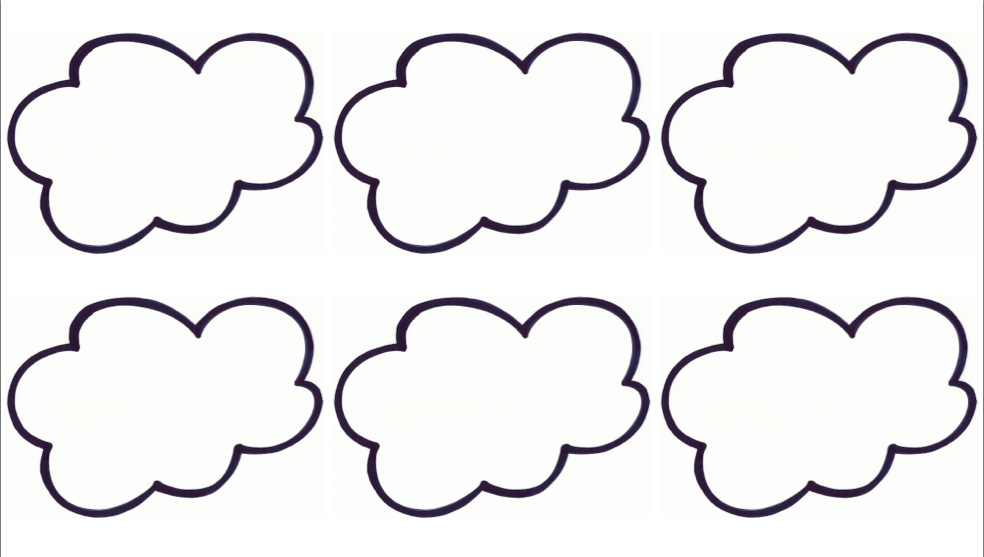 Free Printable Cloud Template, Download Free Clip Art, Free Clip Art