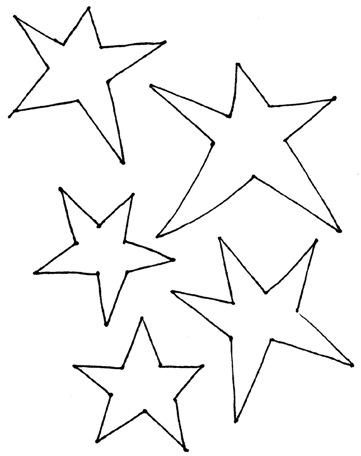 stars template # - Clip Art Library - stars template