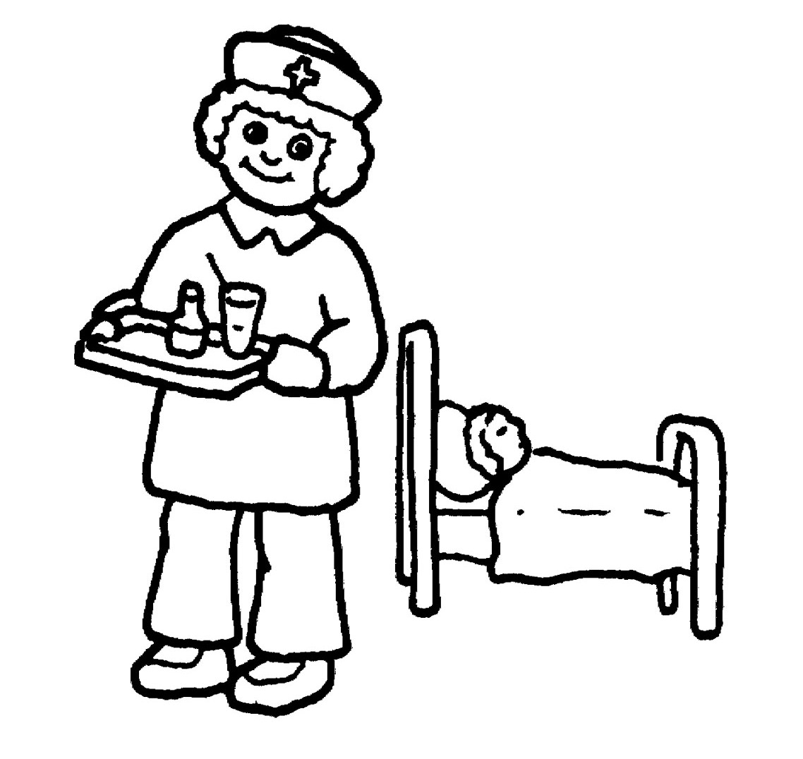 Doctor day coloring pages nurses bring drinks coloring for kids