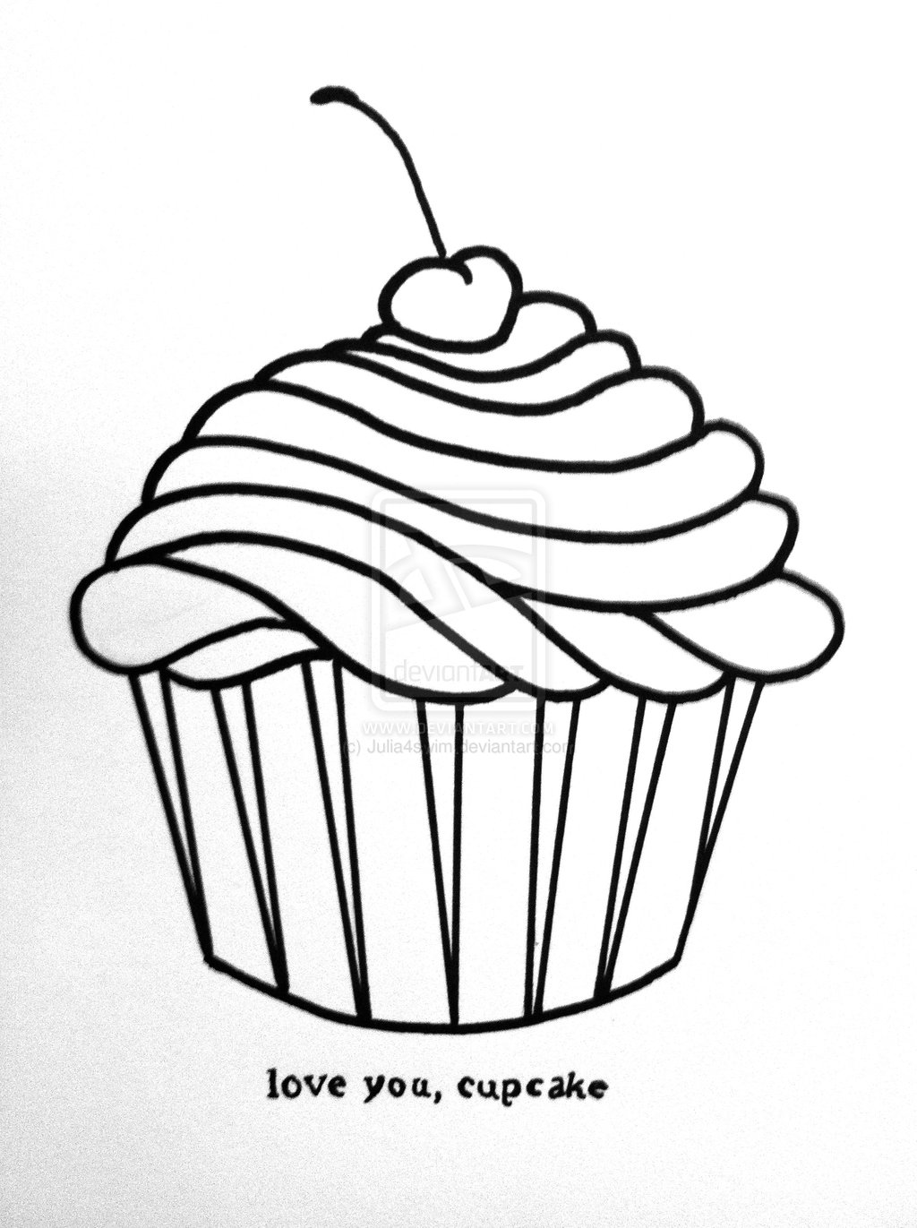 Drawing Cake Colour Free How To Draw A Cute Cupcake Download Free Clip Art