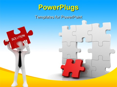 Best Jigsaw_Puzzle PowerPoint Template - Jigsaw puzzle with the
