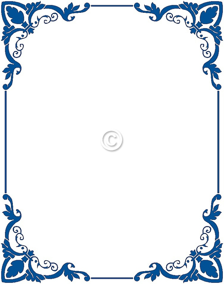 Free Free Blue Borders And Frames, Download Free Clip Art, Free Clip - word design frames