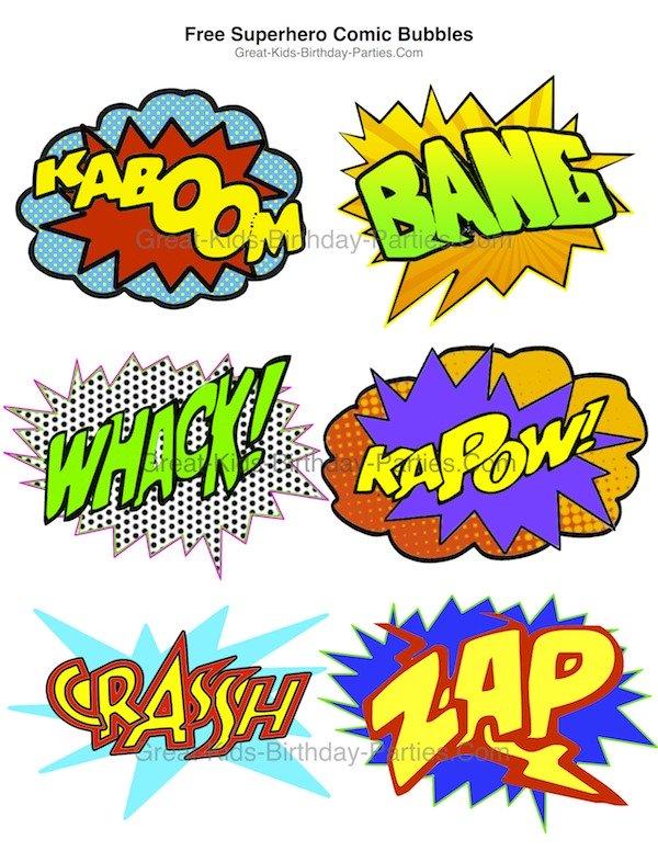 Superhero Printables - Clip Art Library