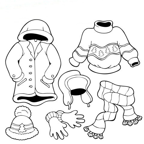 Summer Clothes Coloring Pages For Kids Images Amp Pictures Becuo
