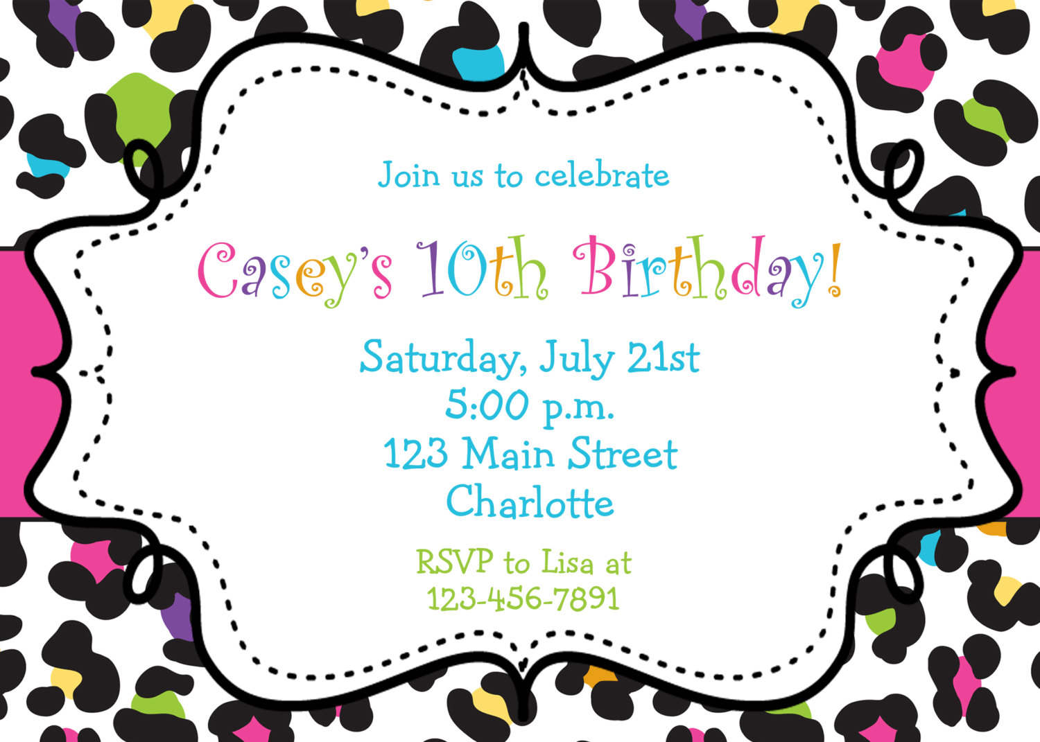 Birthday Invitations Browsing Exclusive Animal Print Themed
