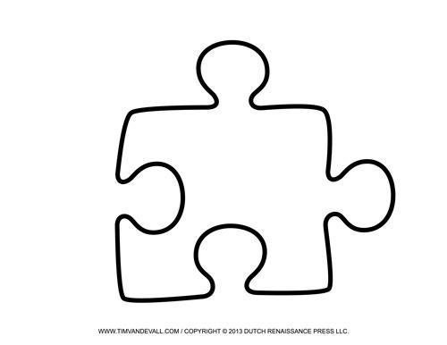 Blank Puzzle Piece Template ? Free Single Puzzle Piece Images PDF
