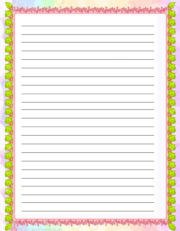 photo regarding Free Printable Writing Paper With Borders named Printable Crafting Paper With Borders And Strains - Resume