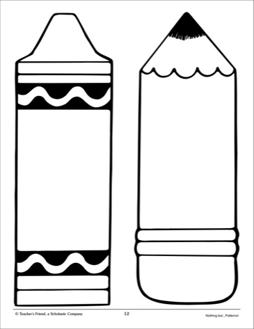 Free Crayon Template, Download Free Clip Art, Free Clip Art on