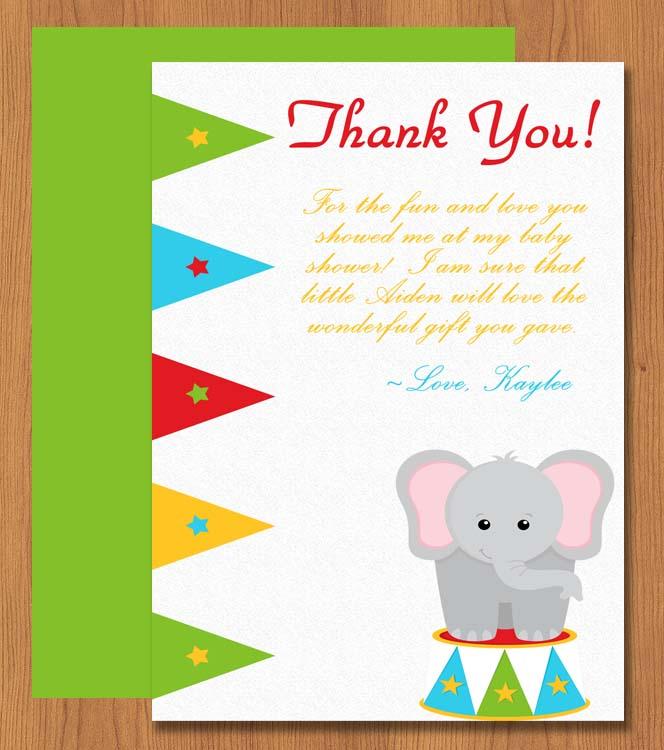 Printable Elephant Thank You Card Microsoft Word Template My - microsoft word thank you card template