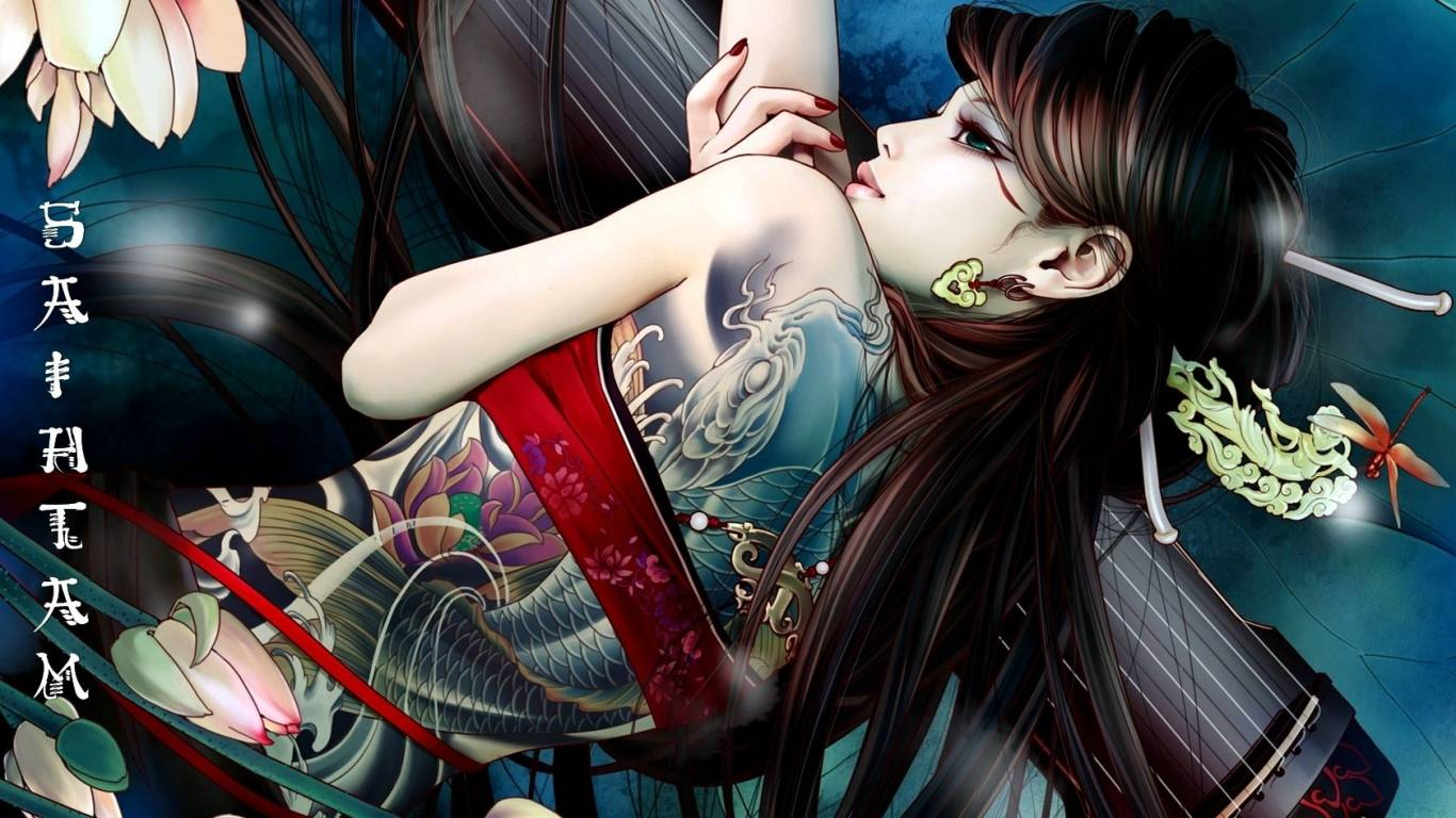 Animated Girly Wallpapers Free Tattoo Wallpaper Free Download Download Free Clip