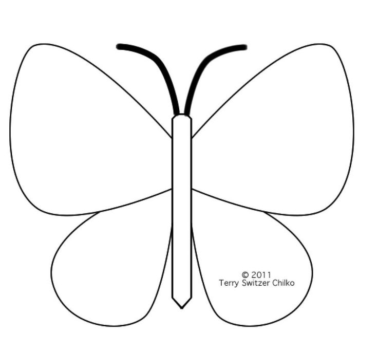 Free Butterfly Template - AZ Coloring Pages - Clip Art Library - butterfly template