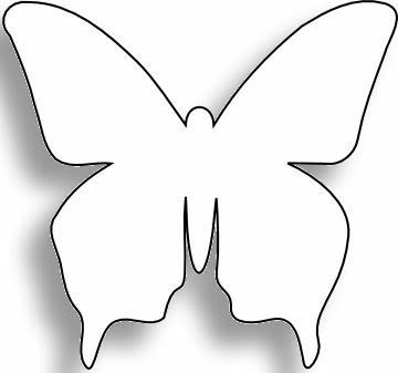 Butterfly Template Free Download Clip Art Free Clip Art on - butterfly template