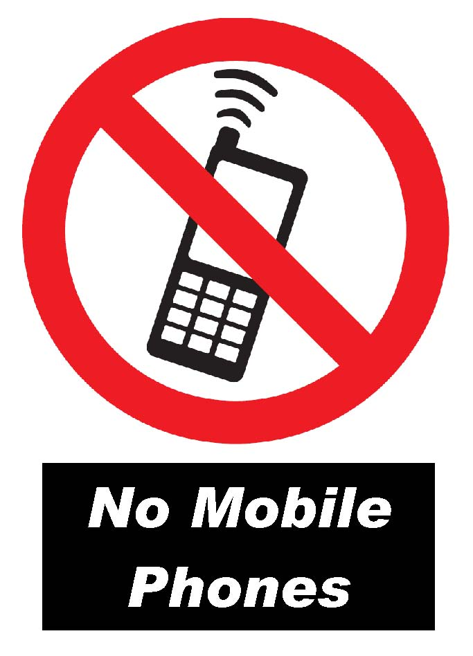No Cell Phone Use Signs - Clip Art Library