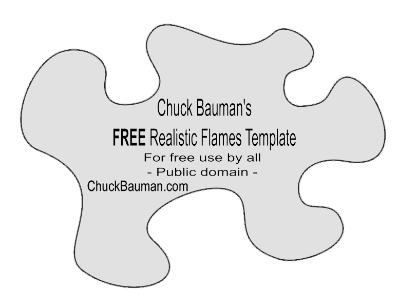 Free Real Flames Fire Airbrushing Templates Stencils Free