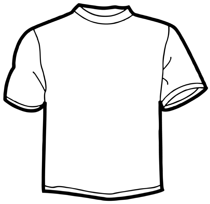 Free Blank T-shirt Outline, Download Free Clip Art, Free Clip Art on