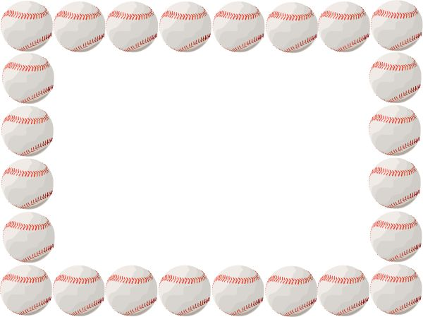 Free Baseball Border, Download Free Clip Art, Free Clip Art on