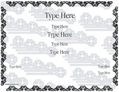 Certificate Street Free Award Certificate Templates - No - Clip Art