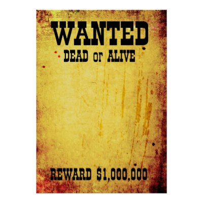 Printable wanted posters for students Mike Folkerth - King of - Clip