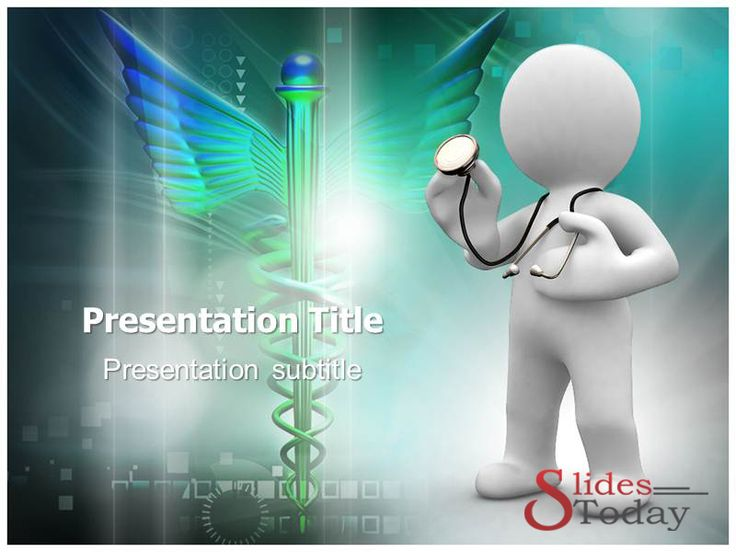 Animated Doctor Powerpoint Template Medical Science Clipart