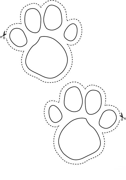 Printable Footprint Cut Out. free footprint template