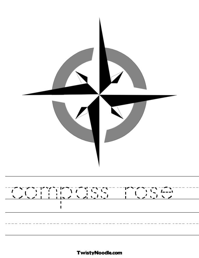 Free Blank Compass Rose Worksheet, Download Free Clip Art, Free Clip