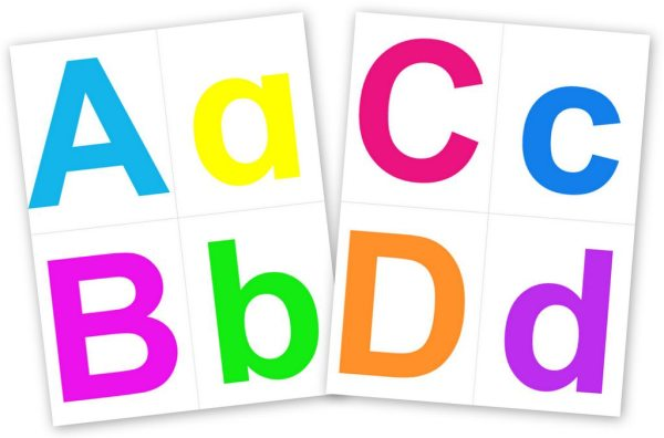 Printable Alphabet Letters Contented at Home - Clip Art Library