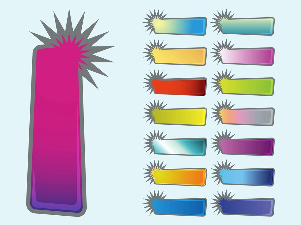 Starburst Banners Collection - Clip Art Library - starburst templates