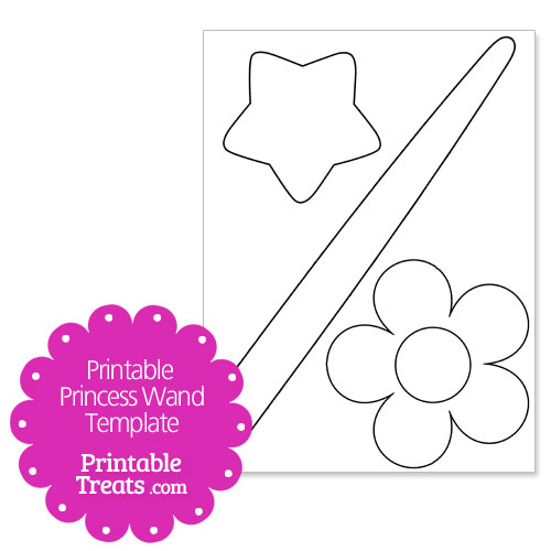 Printable Princess Wand Template - Clip Art Library