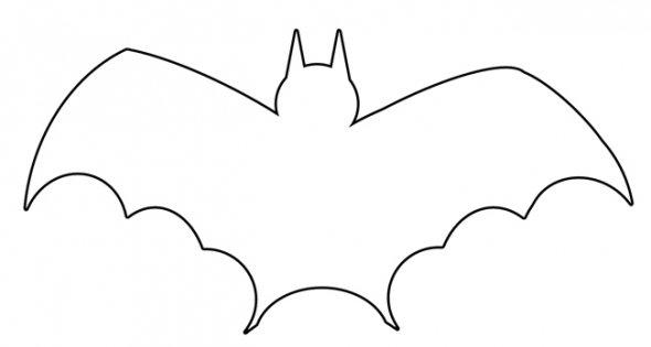 Bat Stencil Free Download Clip Art Free Clip Art on Clipart - bat template