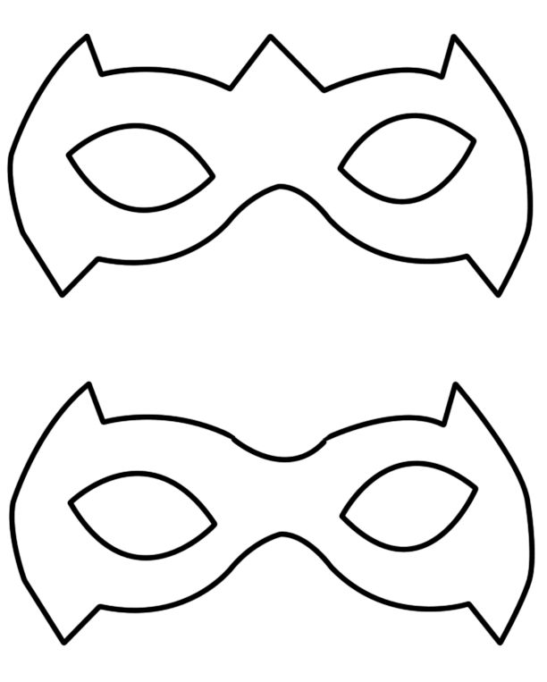 Robin Mask Template Tutorial A Simple Way To Make A Robin - Clip