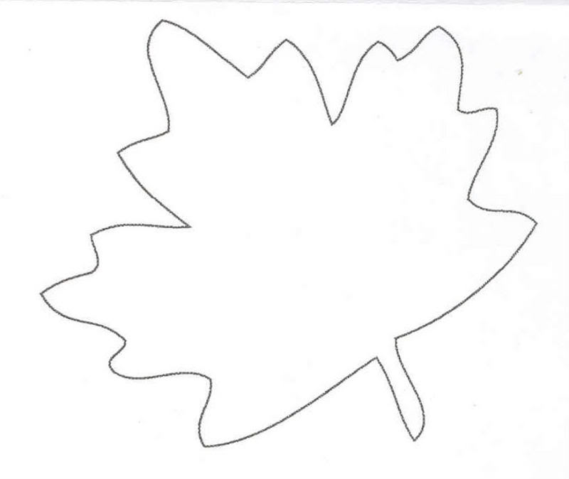 oil and blue FALL LEAF LINE DRAWING TEMPLATE - free printable
