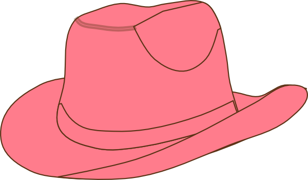 Pink Cowgirl Hat Clip Art At Clipart Library Vector Clip