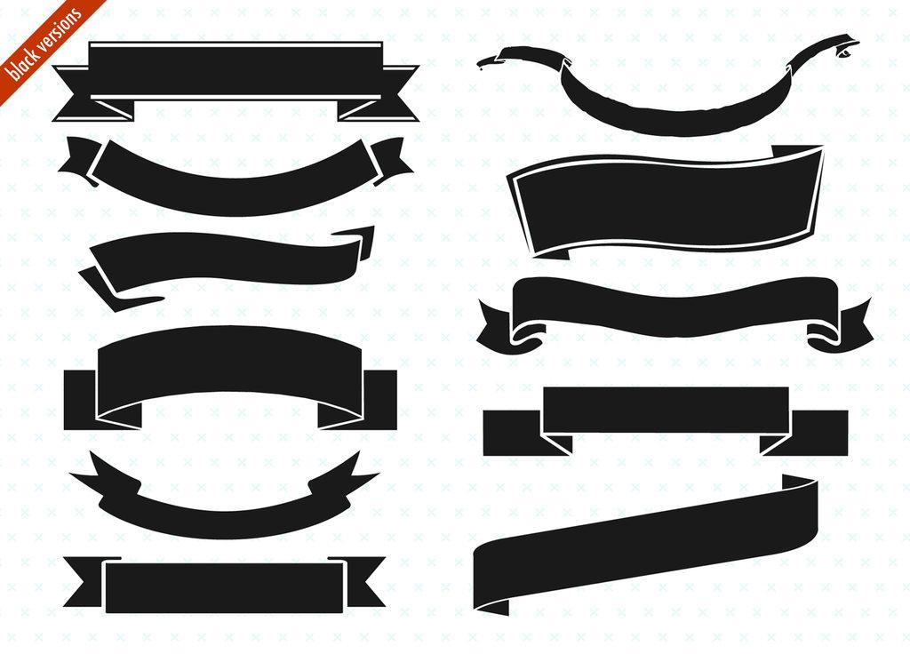 Trendy Banner Ribbon Design For Infographics Vector Template - Clip