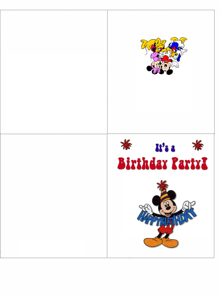 Free Printable Mickey Mouse Birthday Invitations Template - Clip Art