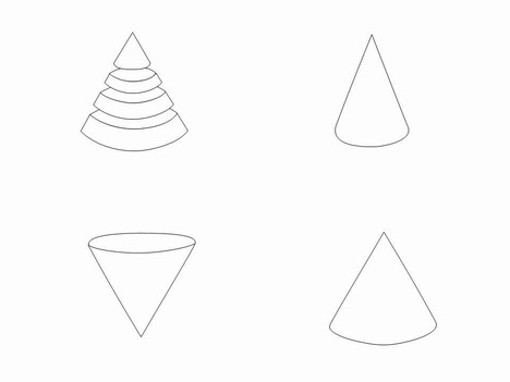 3d Cone Shape Template Printable - Clip Art Library