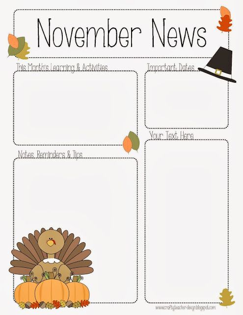 free daycare newsletter templates
