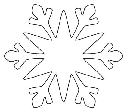 Snowflake Template - Clip Art Library - snowflake template